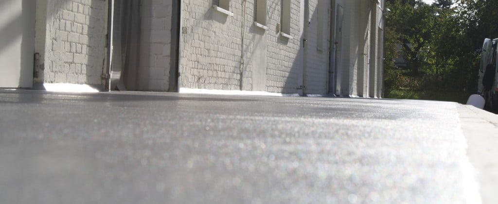 vloeistofdichte vloer grijs