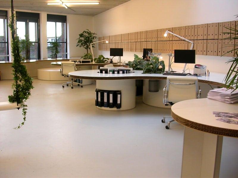 kantoor lichte gietvloer