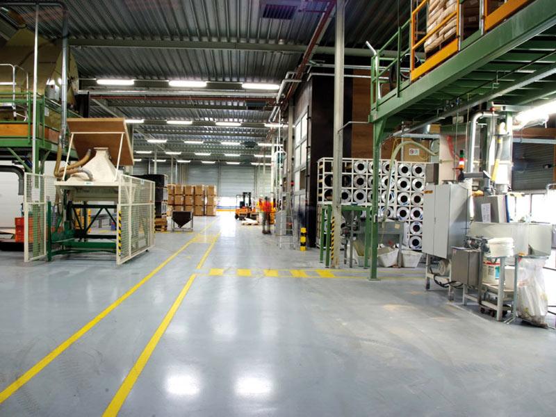 gietvloer in fabriek