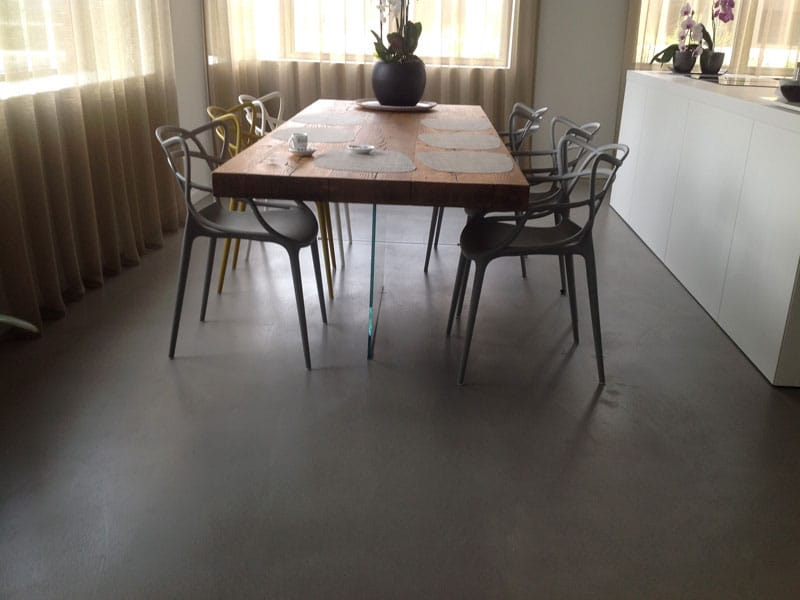 microcement eetkamer