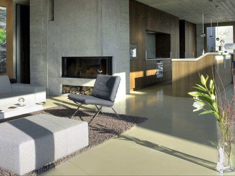 woonbeton moderne woonkamer